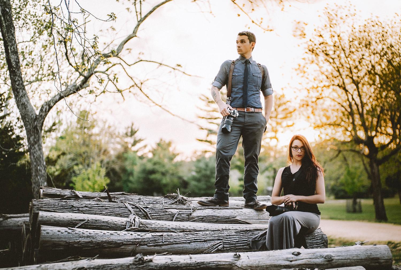 John Kotlowski and Maria Sinoradski, the head wedding photographers at Inspire Me Imagery