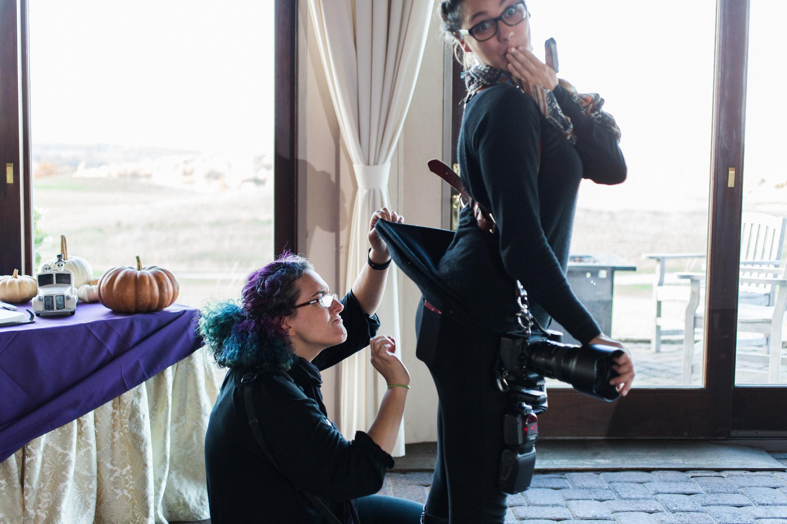 Wedding Photographers Having Fun