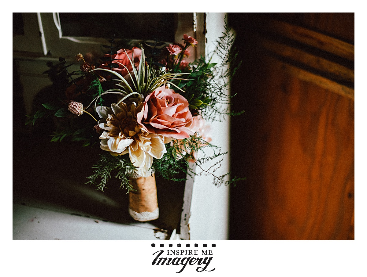 We loved Erin's gorgeous bridal bouquet.