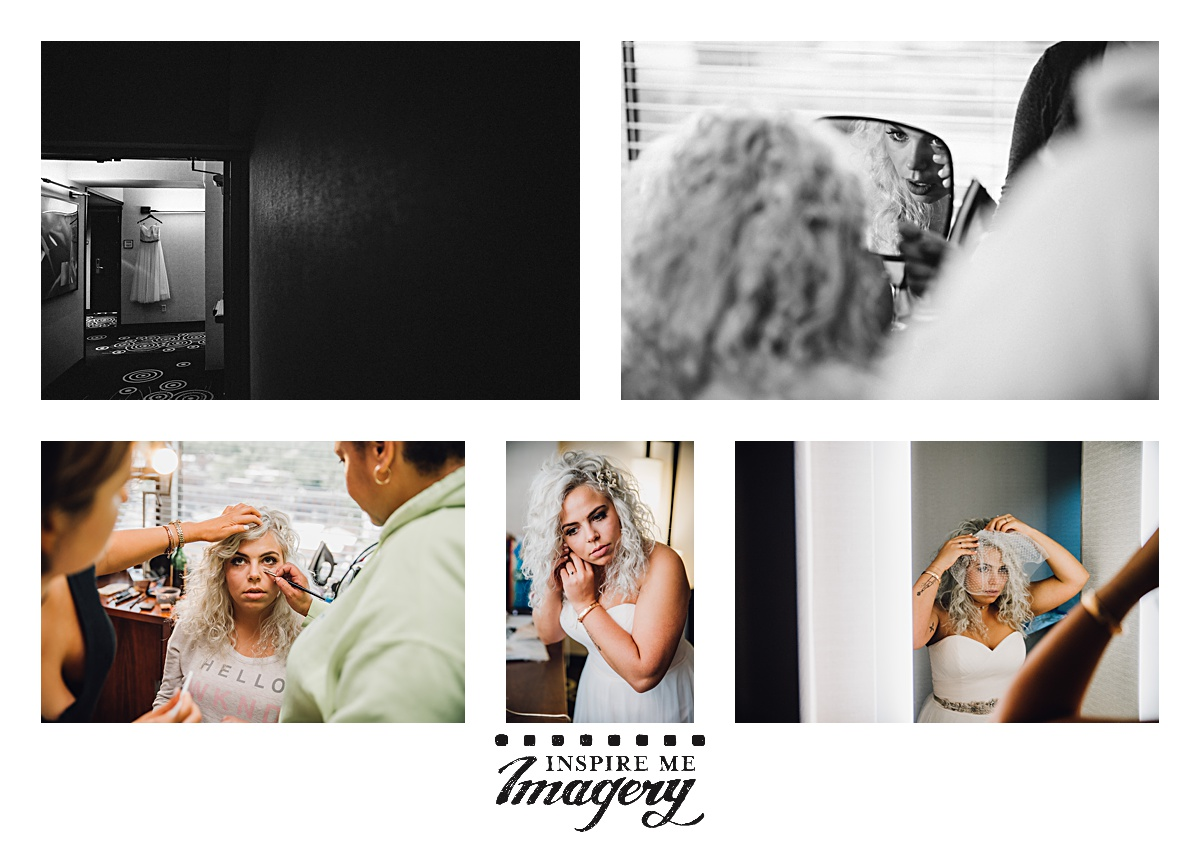 It's always something to watch the transformation of the bride in the morning as she gets her hair and makeup done. The final touches are always done so delicately and with such care.