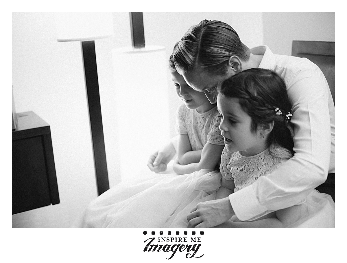 A quiet and reassuring moment with the kiddos is always welcome.