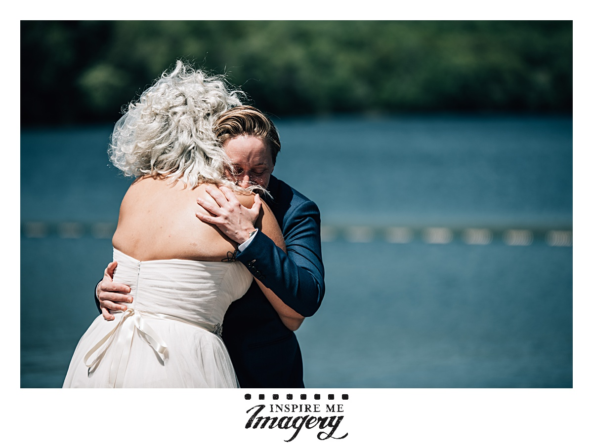 The wedding day was filled with laughs and smiles, and that almost makes the intimate and emotional moments all the more powerful. The rawness of emotion in this shot during the first look is everything.
