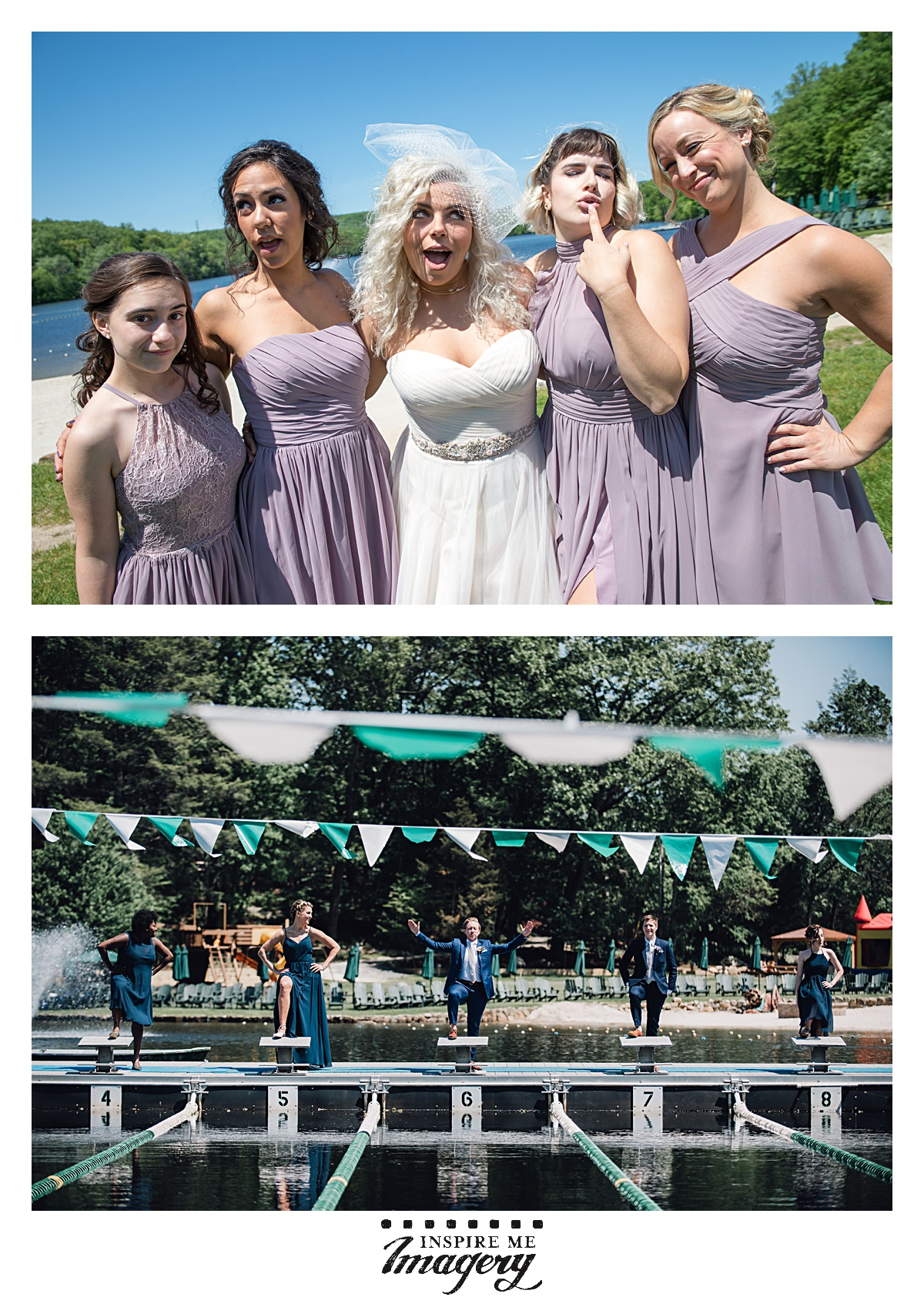 The wedding party was a great group of people, and don't you love the colors of the bridesmaid dresses? The pinks and blues complimented each other so well.