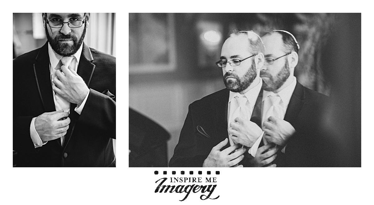 John worked with the groom while he was getting ready to get some awesome portraits.