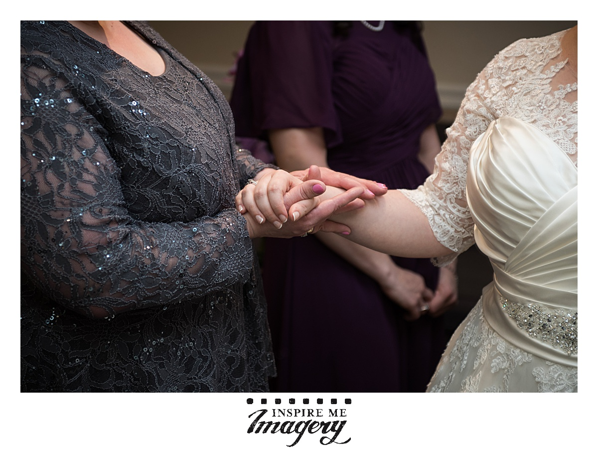 It was an emotional day, and the bride and her mother take a moment to give each other comfort.