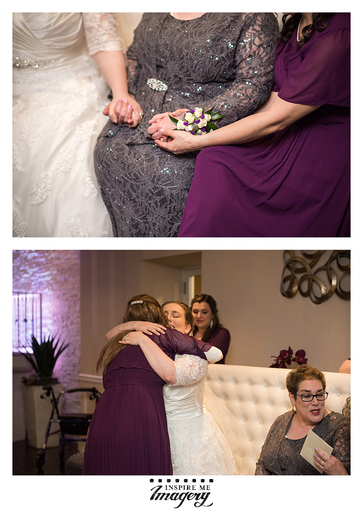 Like I said, an emotional day for sure as the bride and her sister hold hands with their mother, and the bride embraces her closest friends during the Hakhnassat Kallah (Attending the Bride).