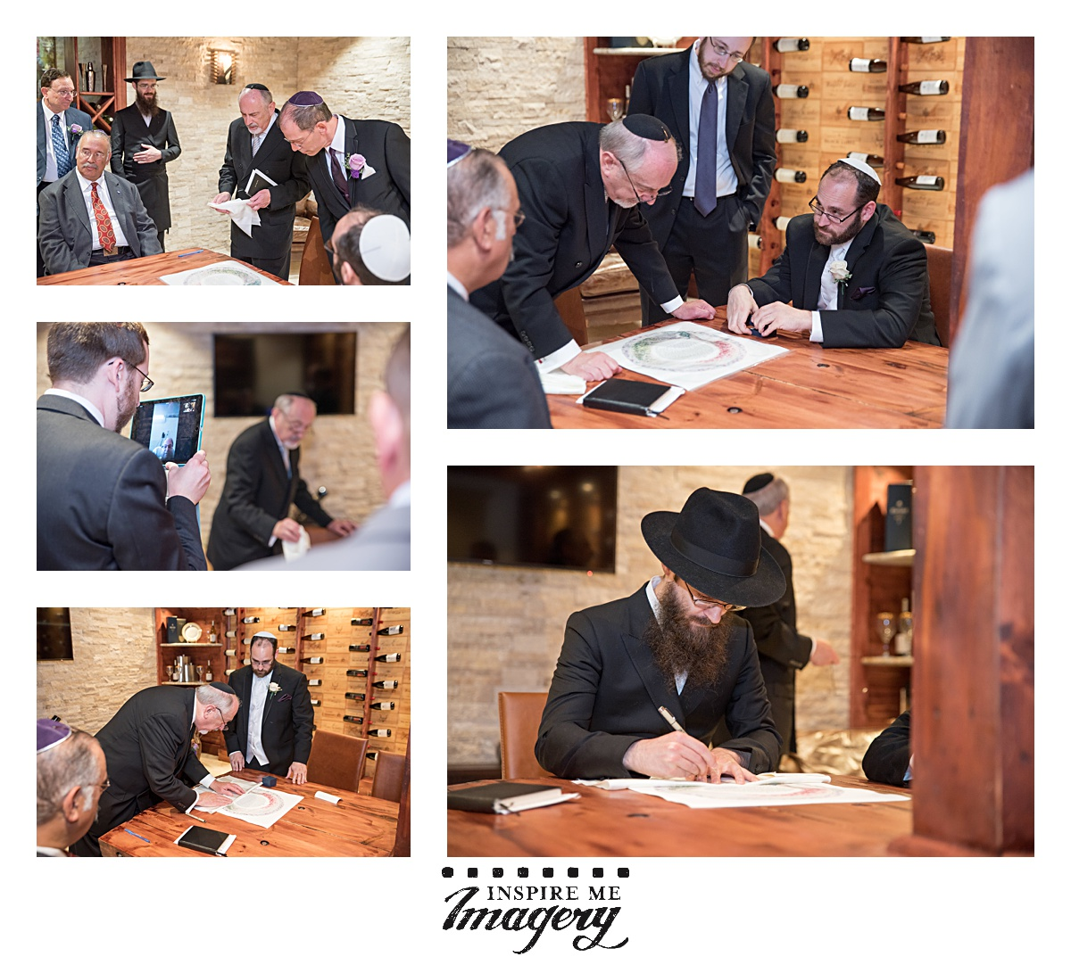 During the Kabbalat Panim, the Groom's Table, the guys sign the ketubah and rejoice with the chosson.