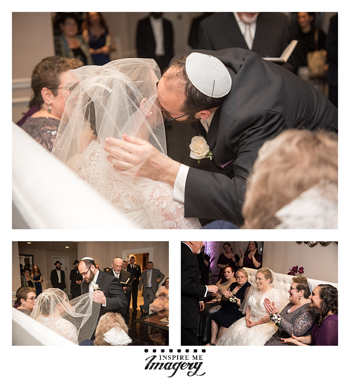 """The Bedeken is officially the start of the wedding ceremony. As they write at  chabad.org , """"The groom places the veil over the bride's face and recites the blessing given to Rebecca by her mother and brother before she left for her marriage to Isaac: Achotenu : at hayi le alfei revavah —'Our sister, be thou the mother of thou-sands of ten thousands'( Genesis 24:60) ."""""""
