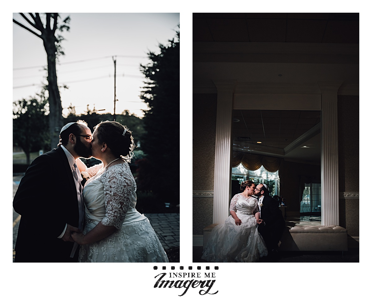 They stepped out for a few quick portraits of the chosson and kallah before the reception got rolling.