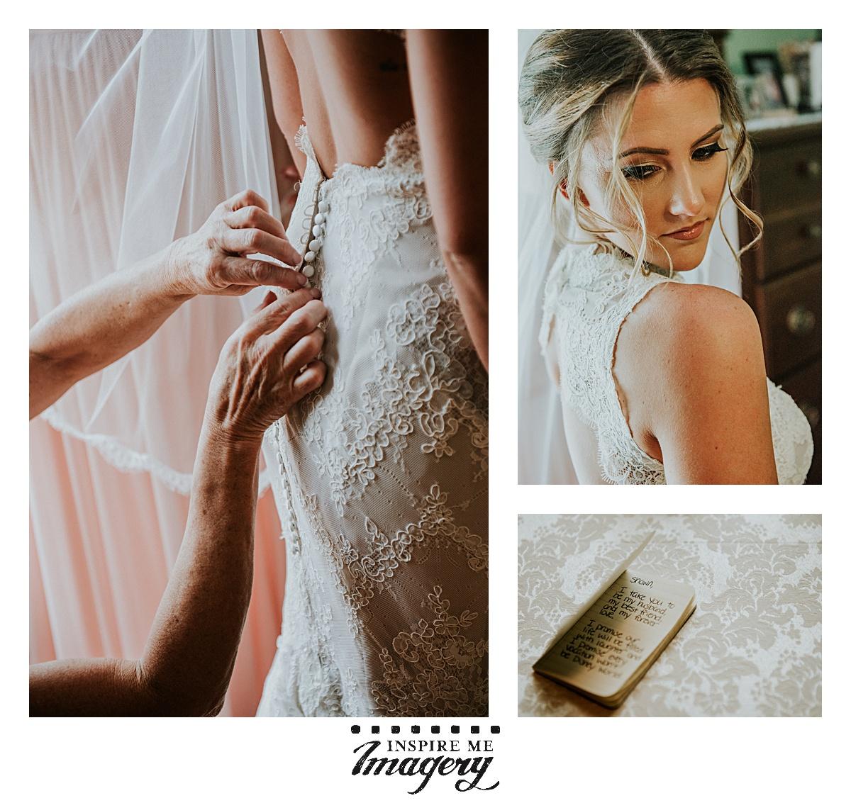 Beautiful light, beautiful bride, beautiful wedding gown, beautiful vows.