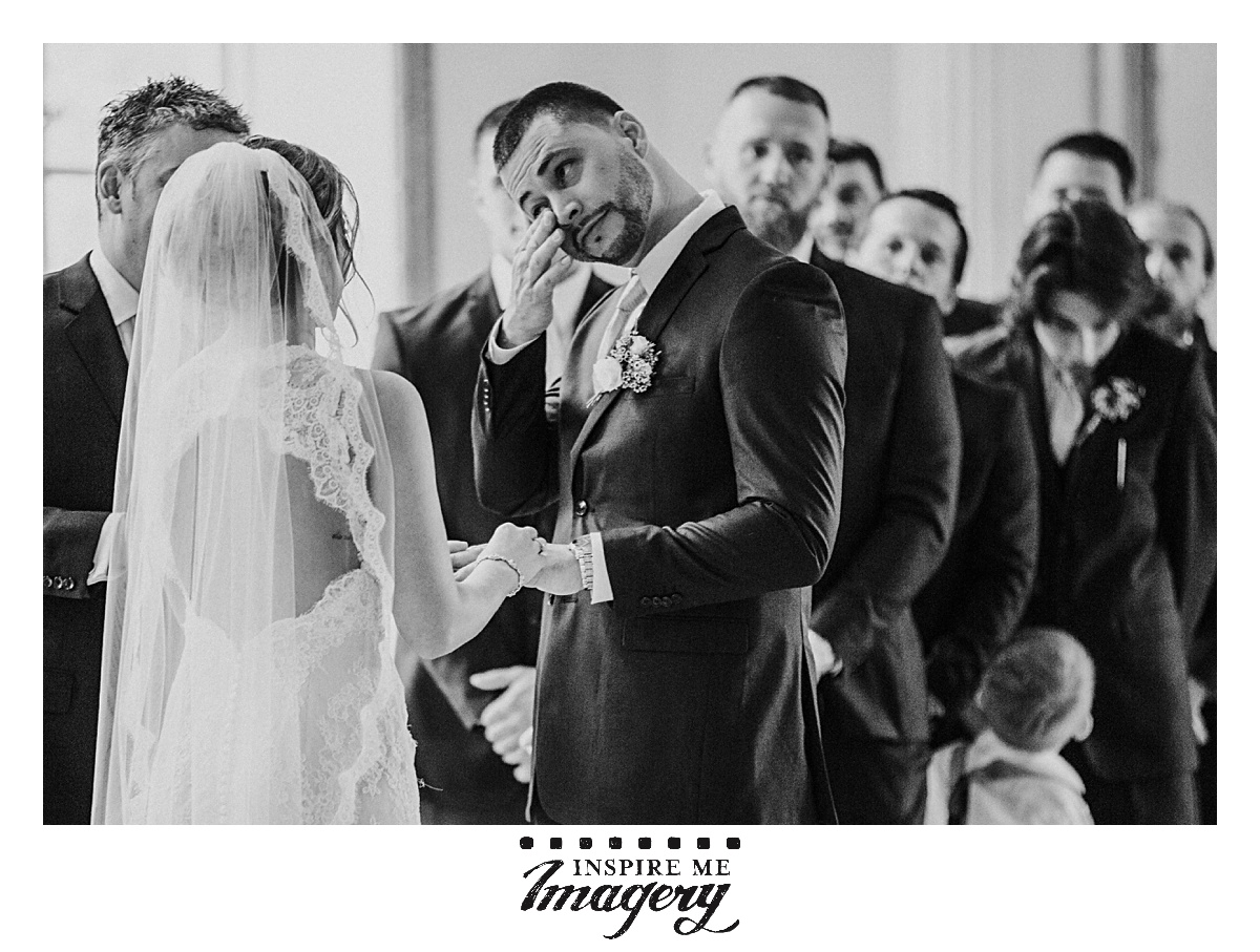 Never hold back the emotion on a wedding day. Let it all hang out. If there's ever a day to be vulnerable, your wedding day is the one.