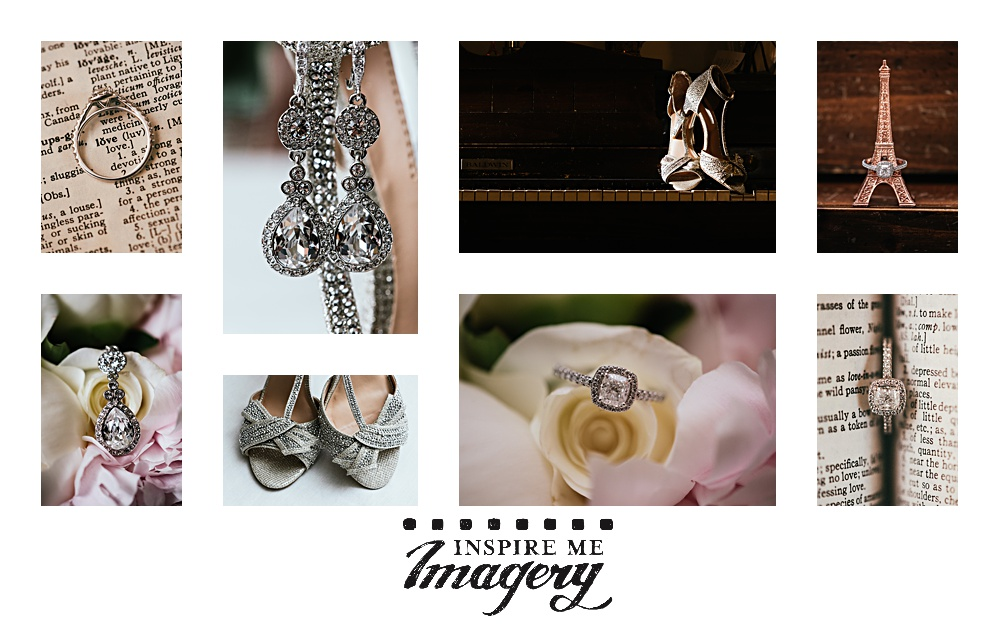 That feeling when you can't pick just one detail shot! The bride's ring, earrings, and shoes were amazing.