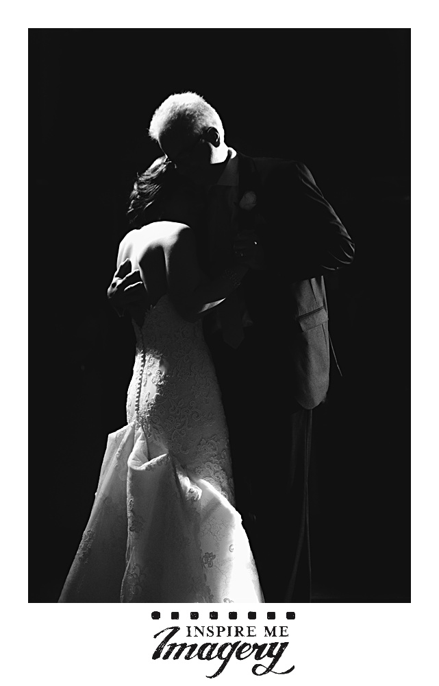 The emotional dance with the bride and her father. We love to take a mix of traditional shots and dramatic ones like this.