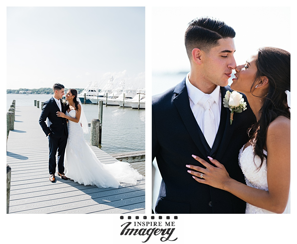 We started the portrait session at the dock behind the Clarks Landing Yacht Club. It was a beautiful, sunny day.