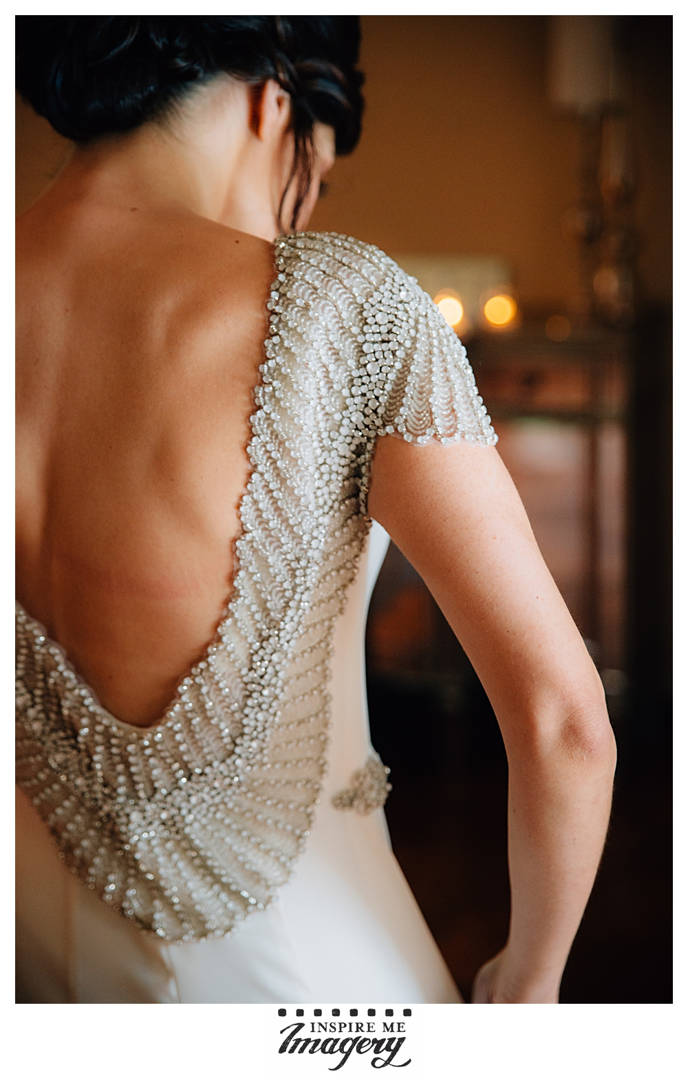 Not for nothing, but she was born for this gown. The low back and beading are so beautiful.