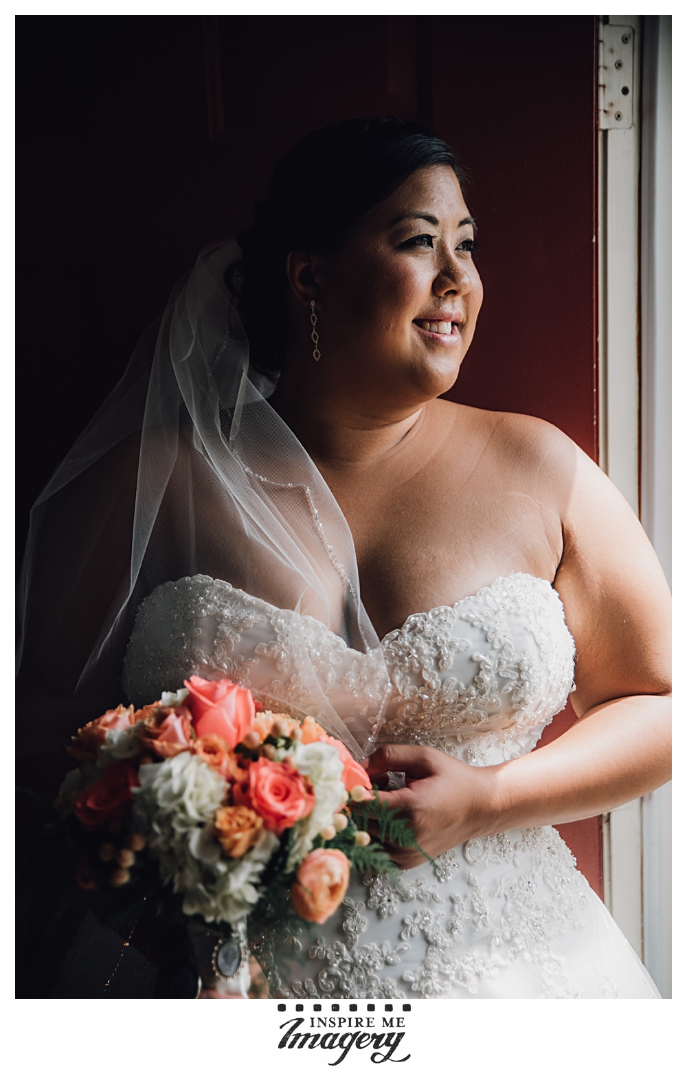 Our beautiful bride in gorgeous light.