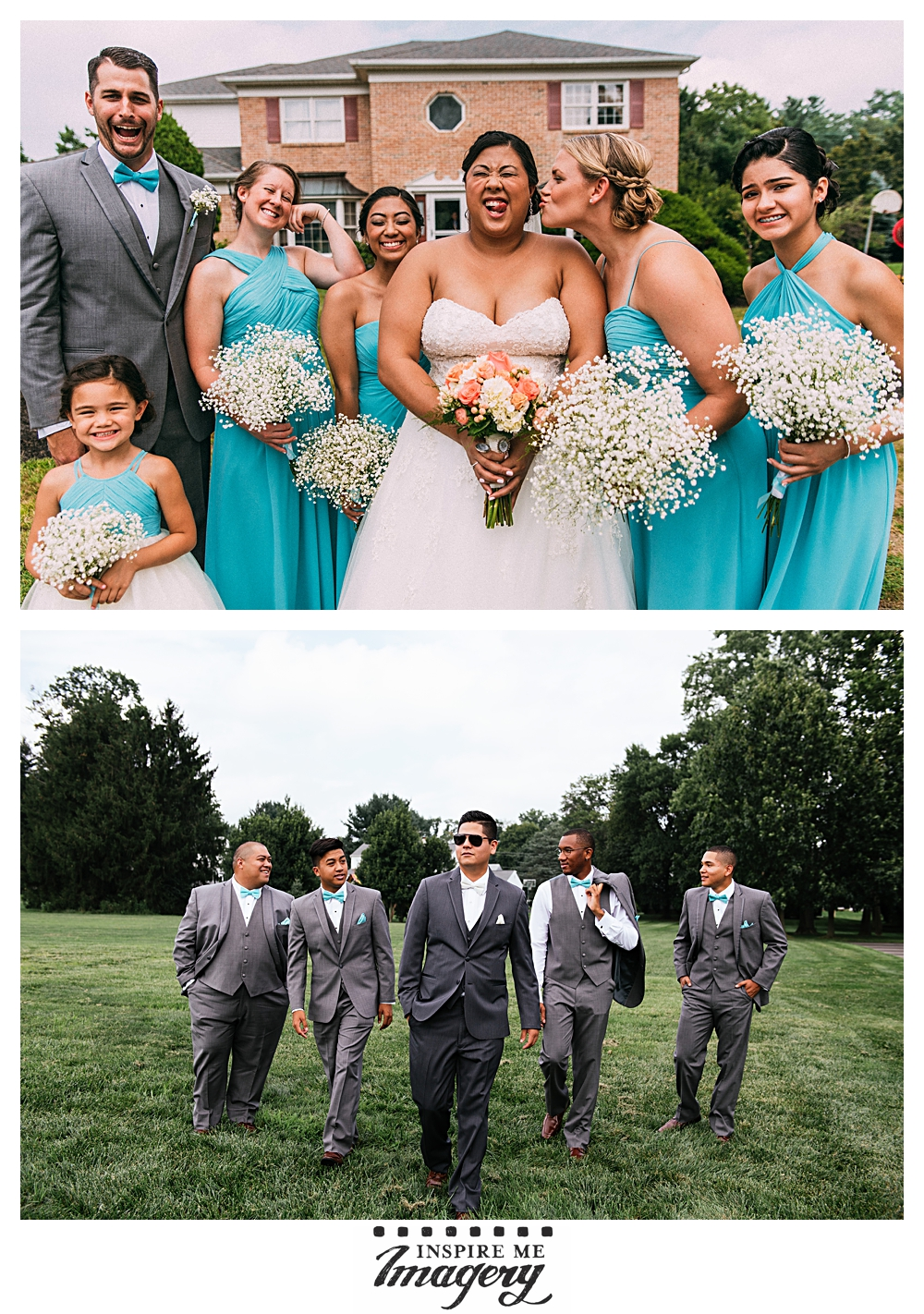 This was a seriously fun group to work with during the wedding party portraits.