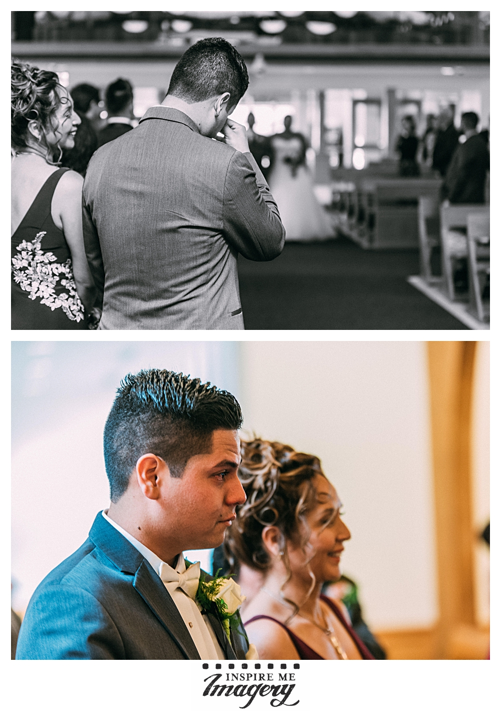 First looks certainly can make the day go more smoothly when it comes to portrait time, but there's something to be said for a groom seeing his bride for the first time as she walks down the aisle toward him.
