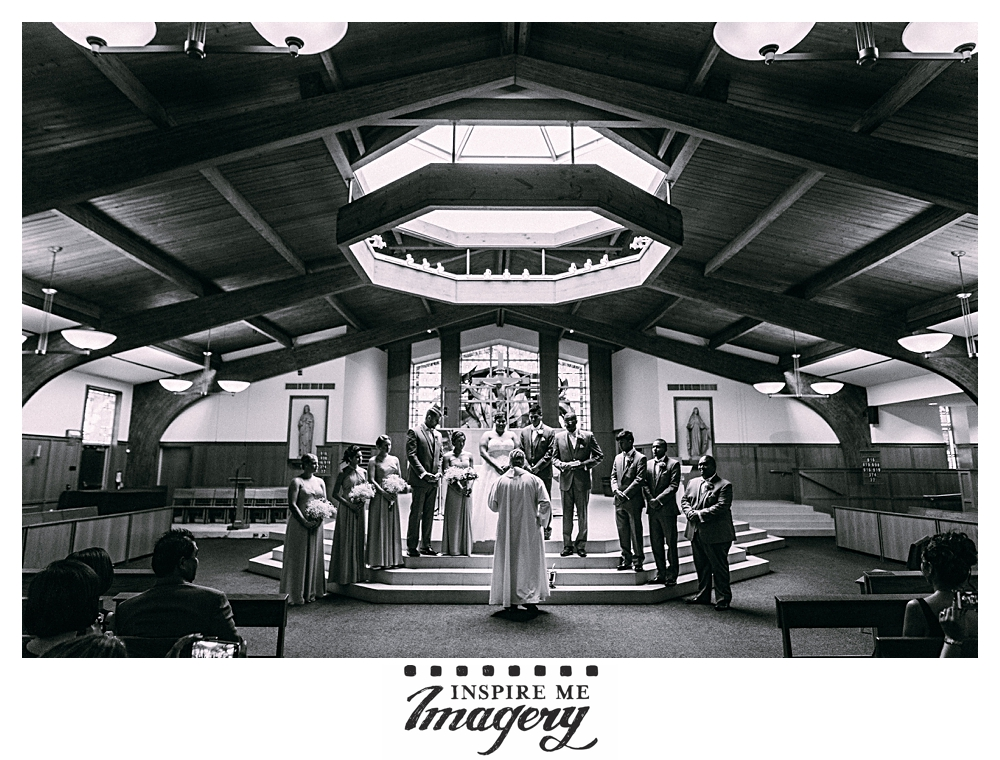 The architecture of this modern church made for some very cool monochrome shots. When we asked Liza to describe her ceremony in three words, she gave us romantic, lovely, and family. Goal achieved, girl.