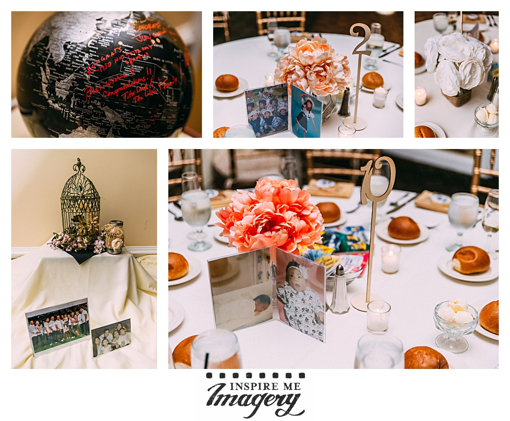 More details from the reception at the Copperfield Inn. We really loved how the couple incorporated photos everywhere.