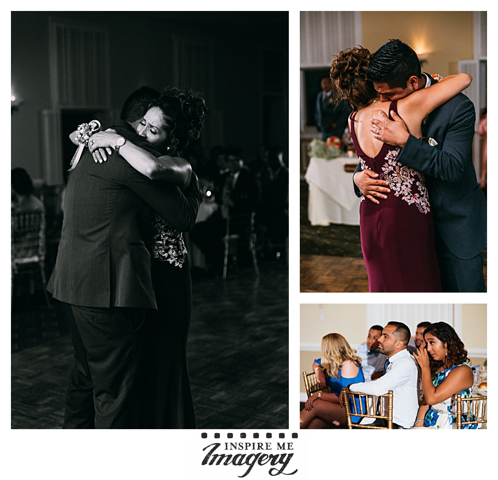 The groom's dance with his mother was emotional and beautiful. Not a dry eye in the house.