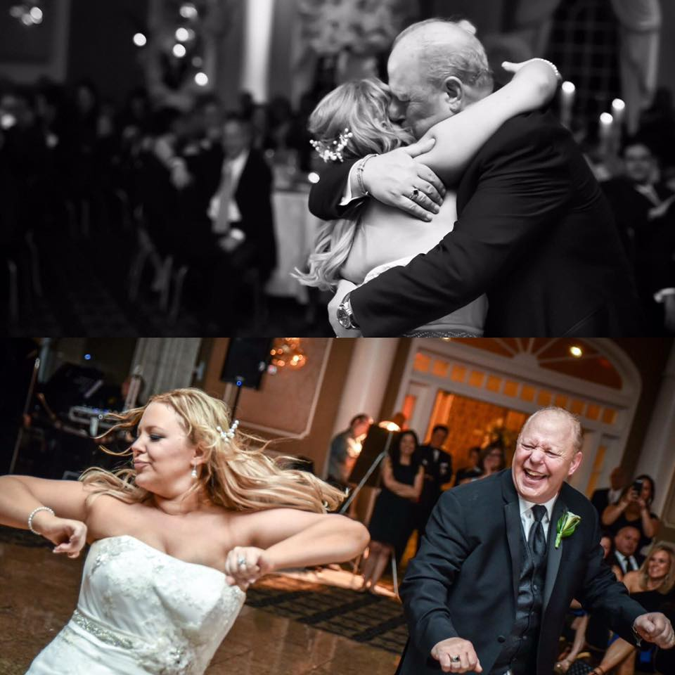 Arielle Lillen - I put these two together. The bottom is us during our father daughter dance/breakdown and the top is my dad hugging me at the end of the dance!