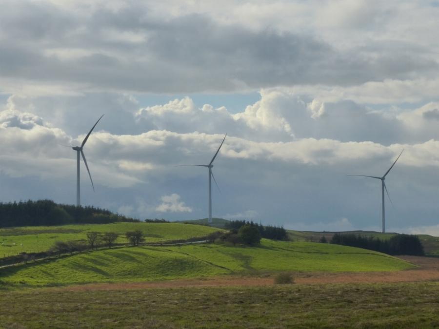 Tirgwynt wind farm, mid-Wales