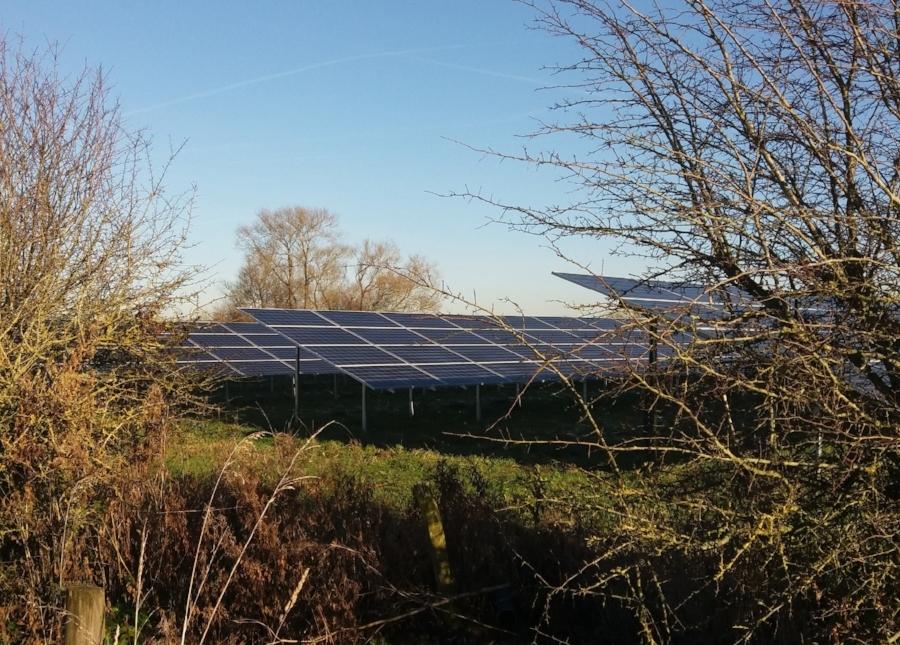 Common Farm solar park near Swindon