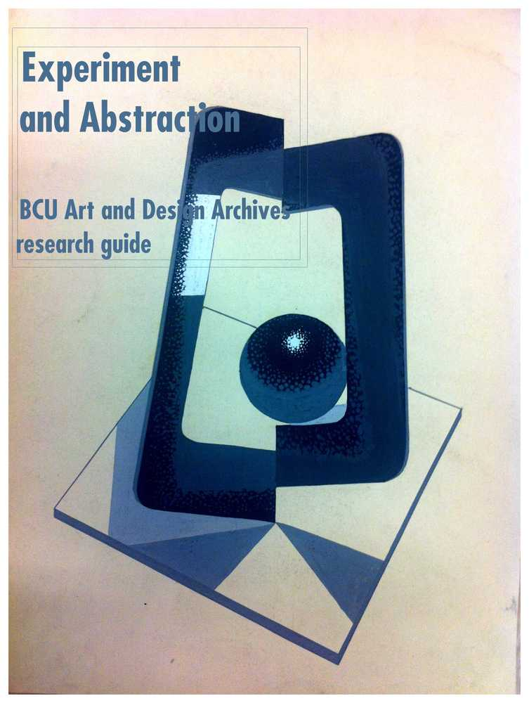 Experiment and Abstraction: Research Guide