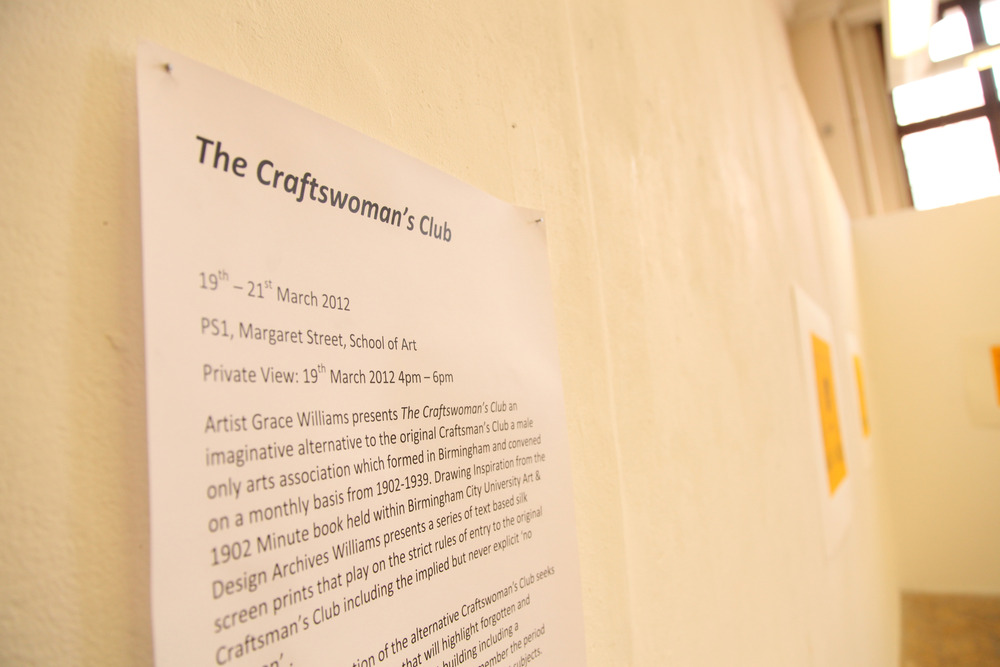 The Craftswoman's Club Opening