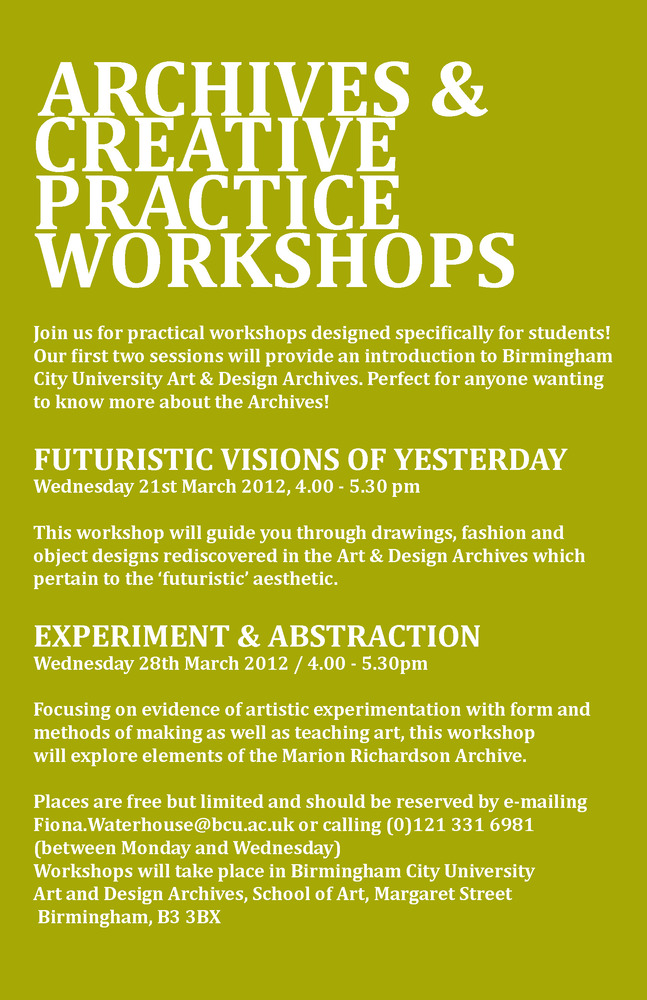 Upcoming Workshops & Exhibition