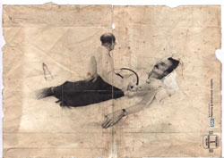 Jamie Shovlin,  Naomi V Jelish , 2004, extraneous drawings, private sketchbooks and school sketchbooks