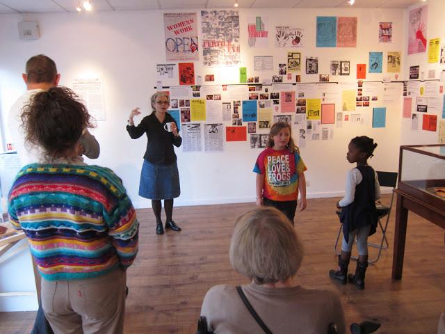 Francoise Dupre giving a curator's talk, 19 November 2011
