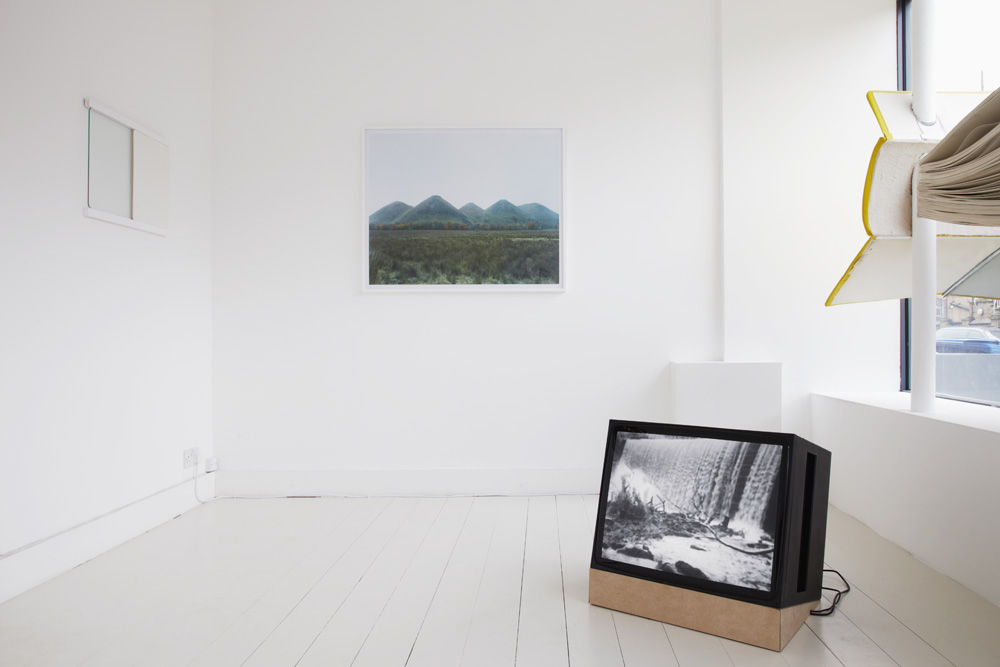 Stuart Whipps, installation shot from  Birth Springs,    Death Falls , exhibited at Flat Time House, London, 2013.