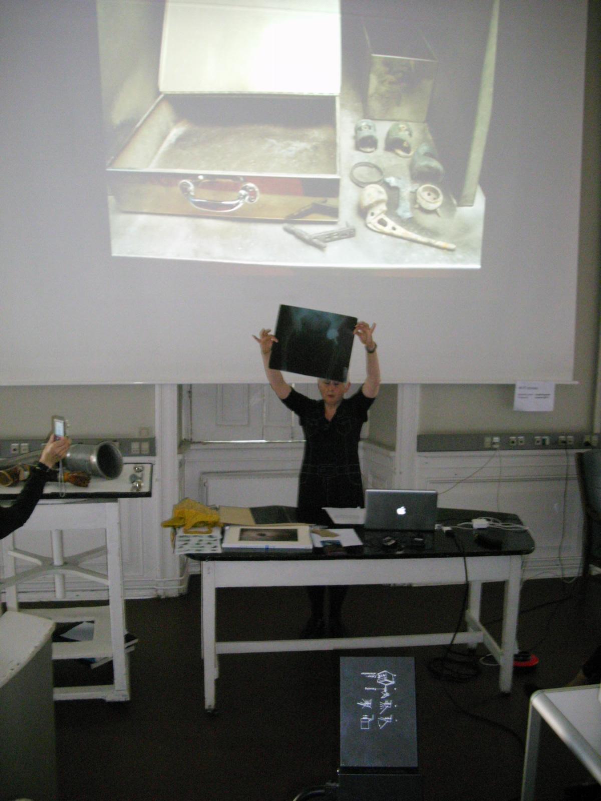 Marlene Little giving her presentation at  The Sensuous Object  workshop at the Medical Museion, University of Copenhagen, September 2011