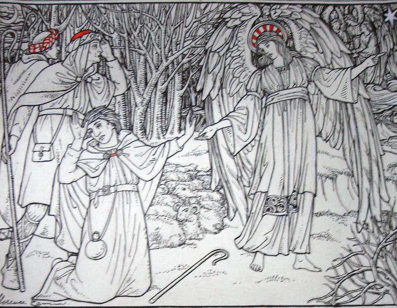Florence Camm,  Design for a Christmas greetings card,  1900, SA/AT/4/2/6.