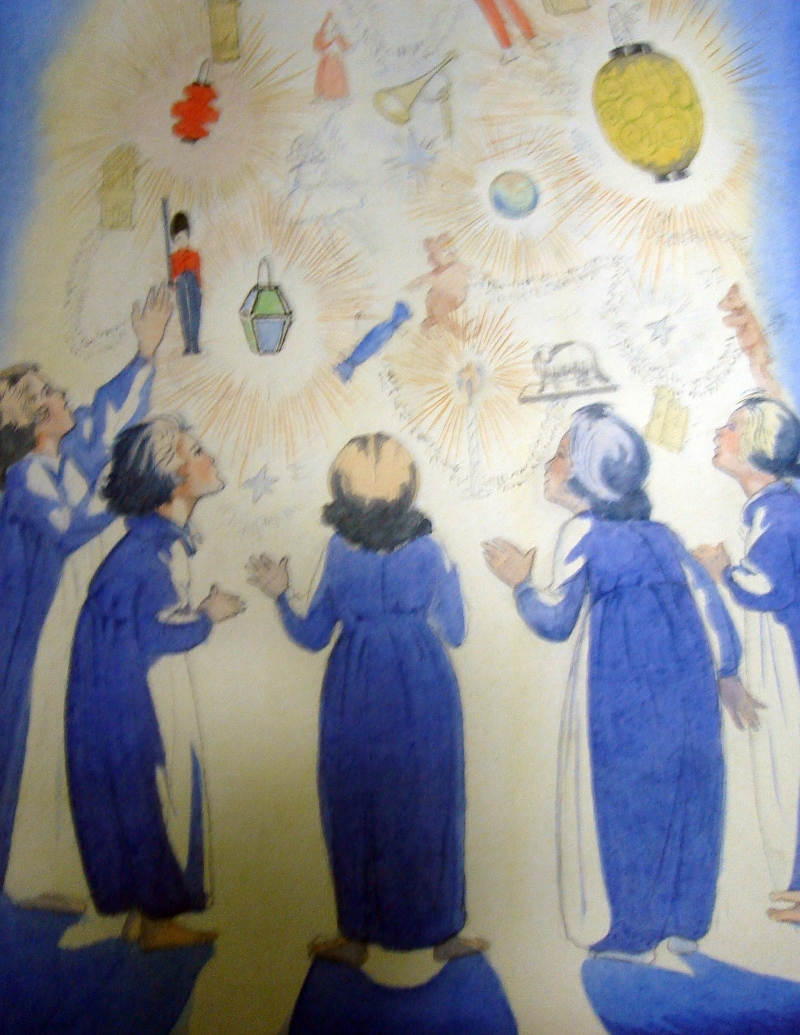 Hilda Mary Long, Watercolour of  A Child's Vision of Christmas , 1921, SA/AT/16/32/36.