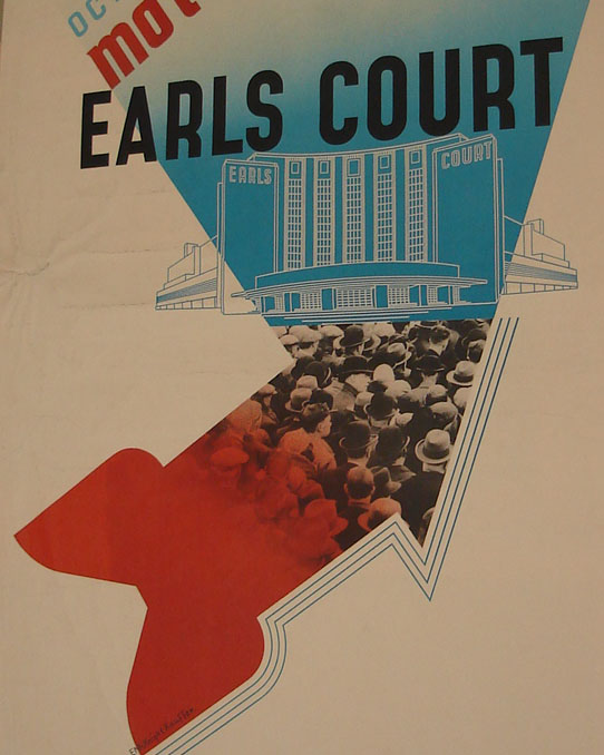 Edward McKnight Kauffer, detail from poster for Earls Court Motor Show, 1937