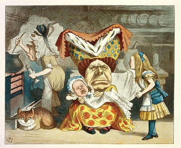 Illustration from The Nursery Alice, 1890.