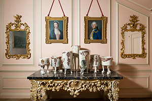 Matt Smith,  Garniture: The Bullock Buckets  on display at Uppark House, 2014.