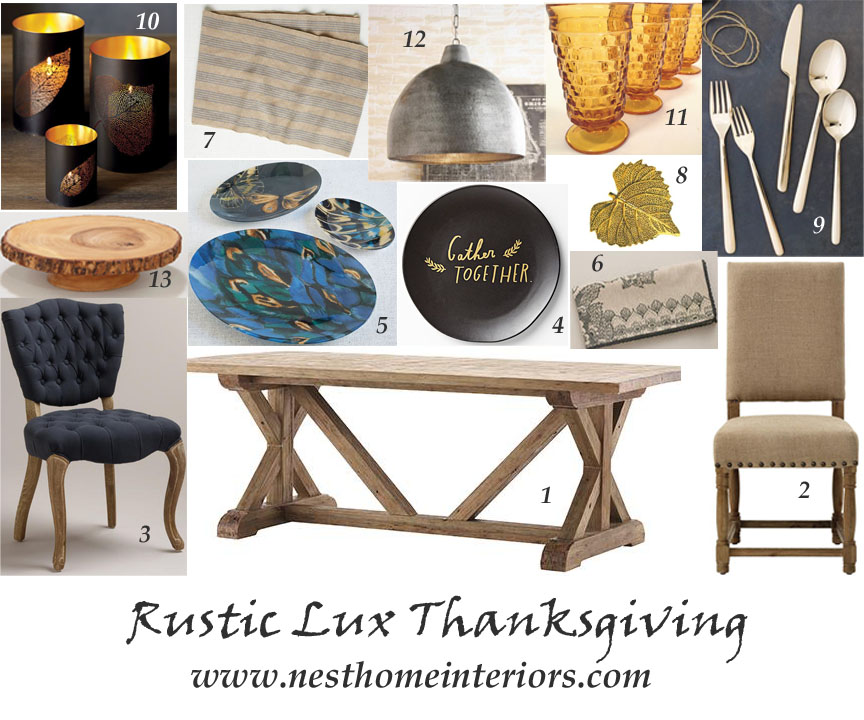 rustic lux thanksgiving via Nest
