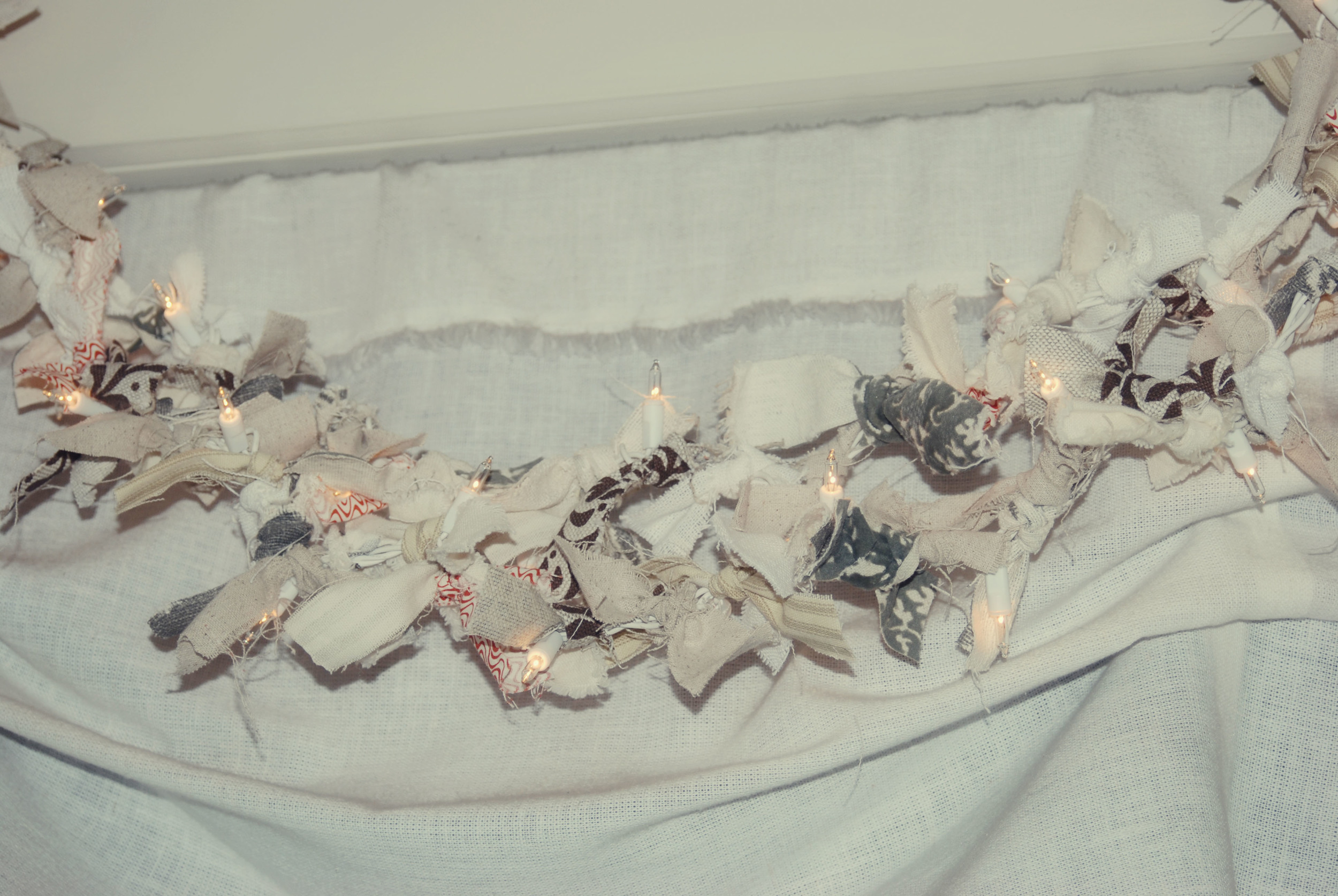 twinkly rag garland via Nest
