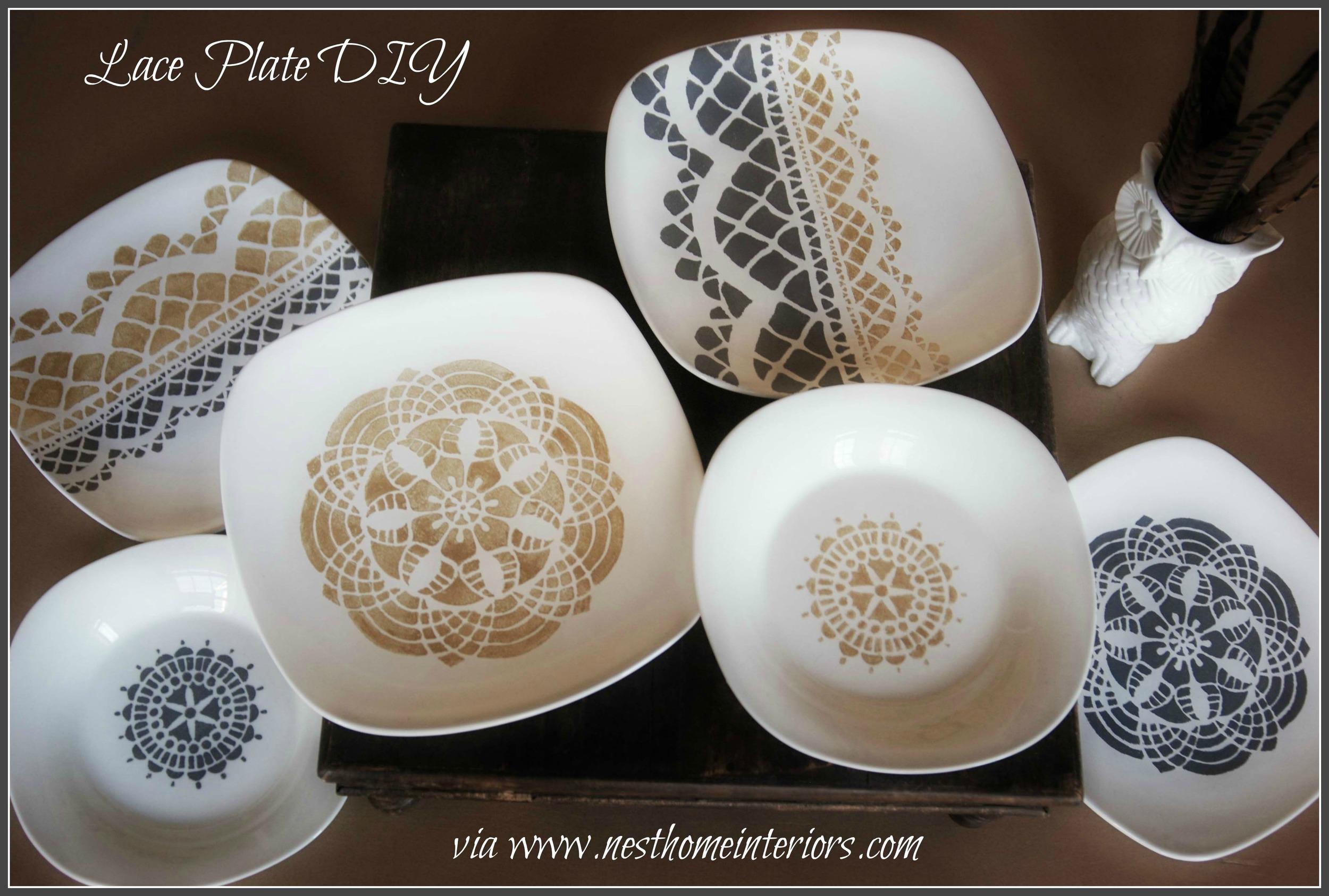 lace plate diy
