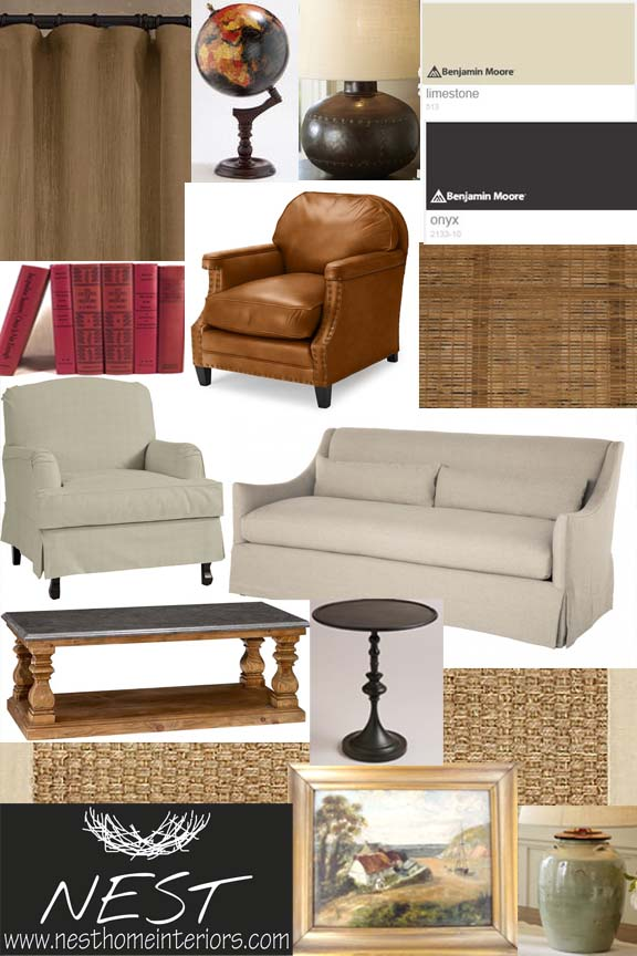 """It's Complicated """"inspired"""" living room"""