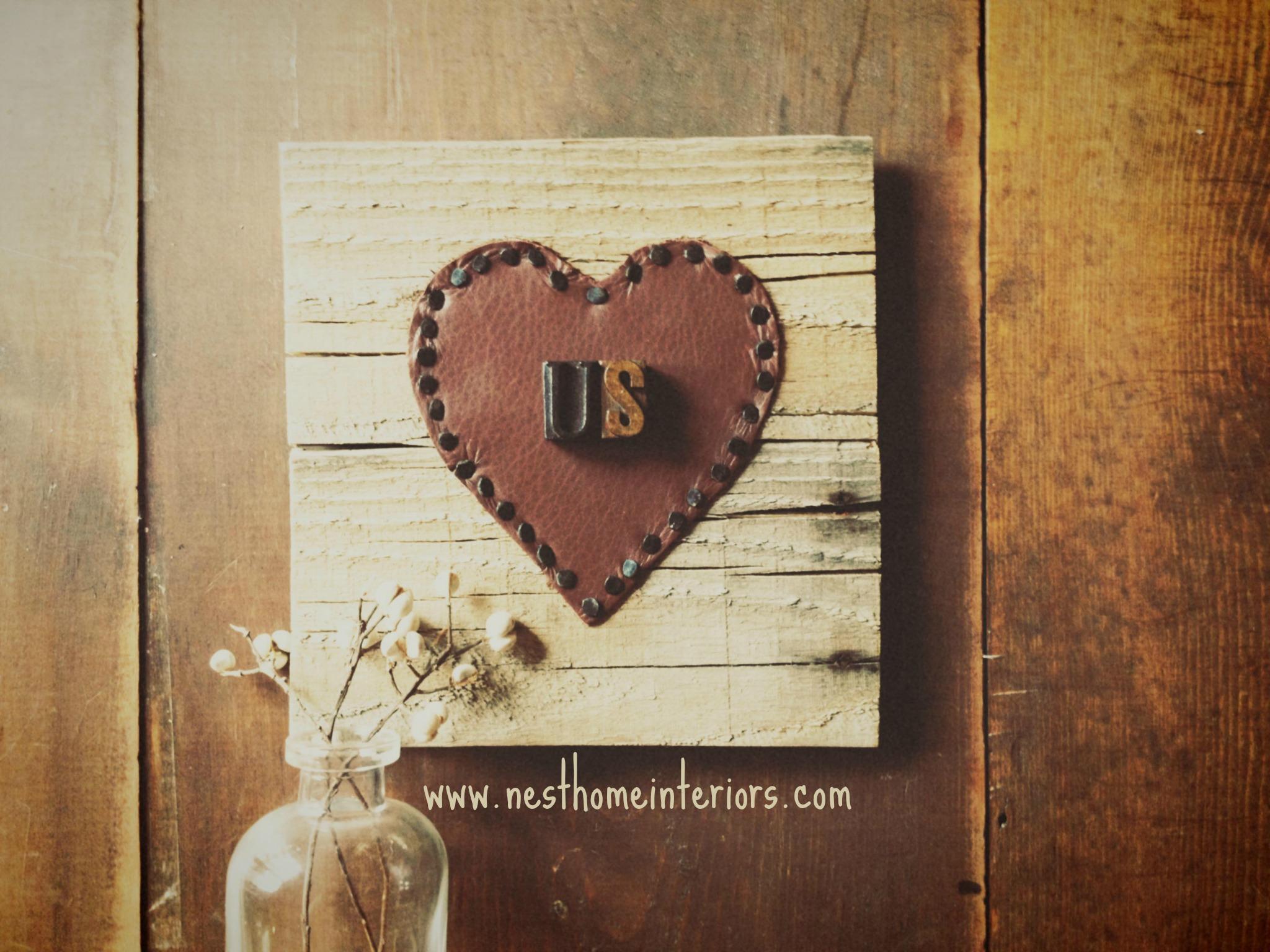 Leather Valentine via Nest Home Interiors