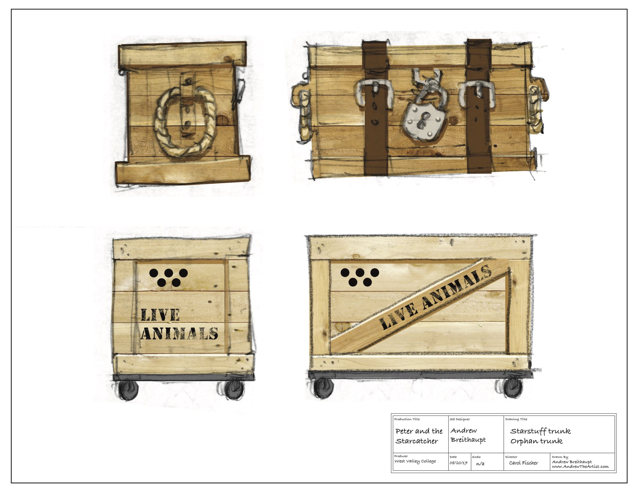 Starstuff trunk concept sketches