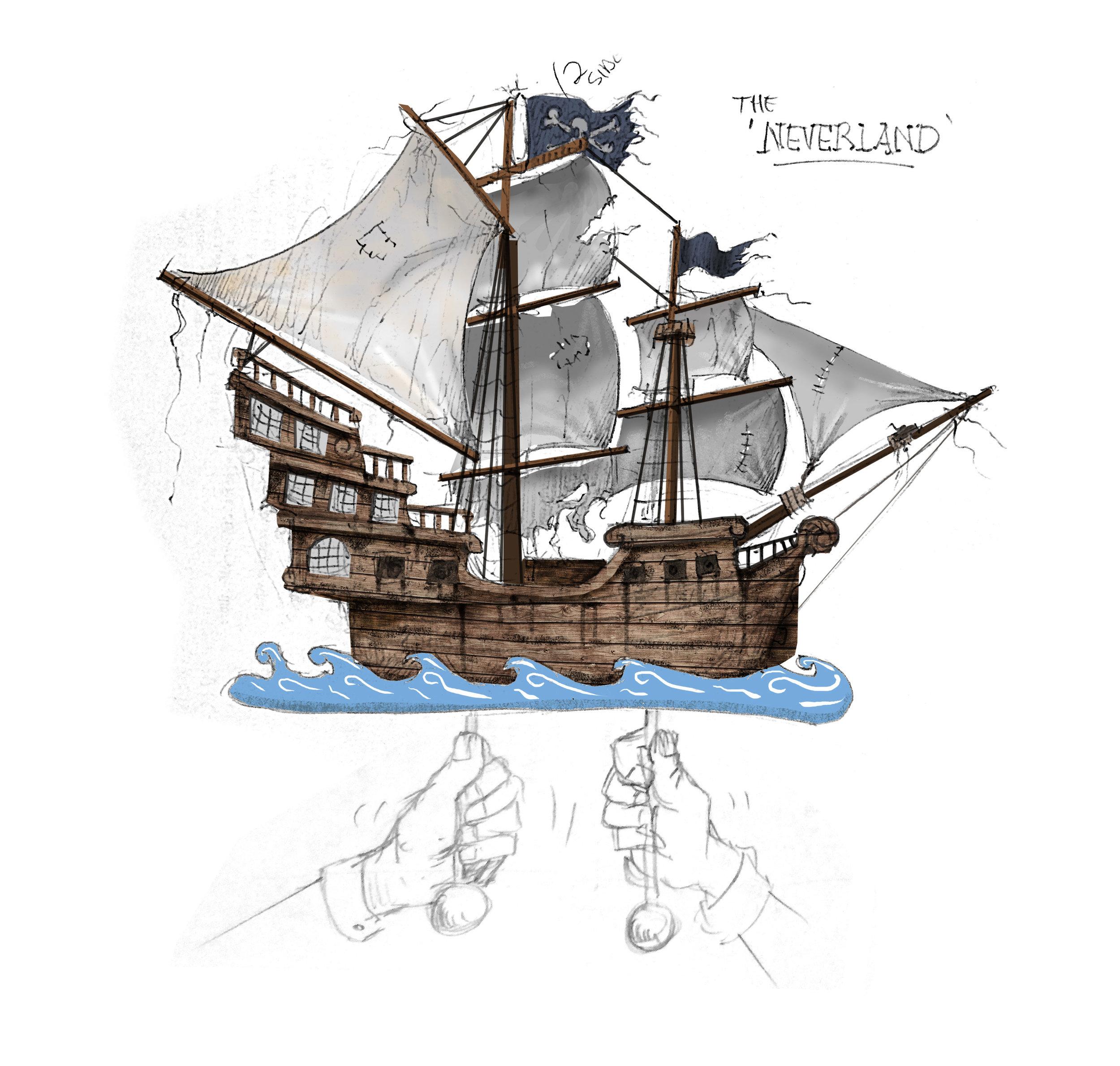 Neverland concept sketch