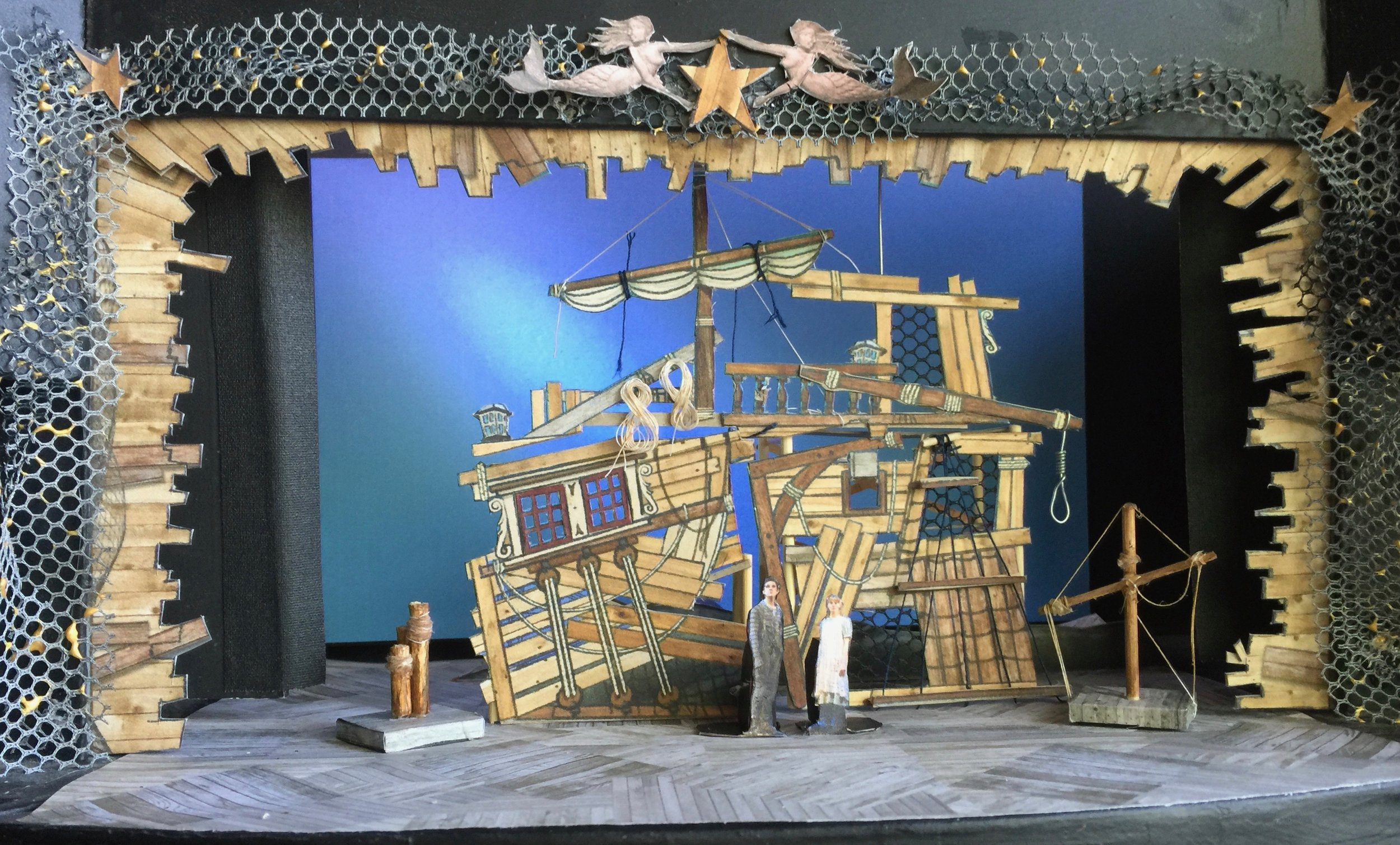 """1/4"""" scale model of act 1 set"""