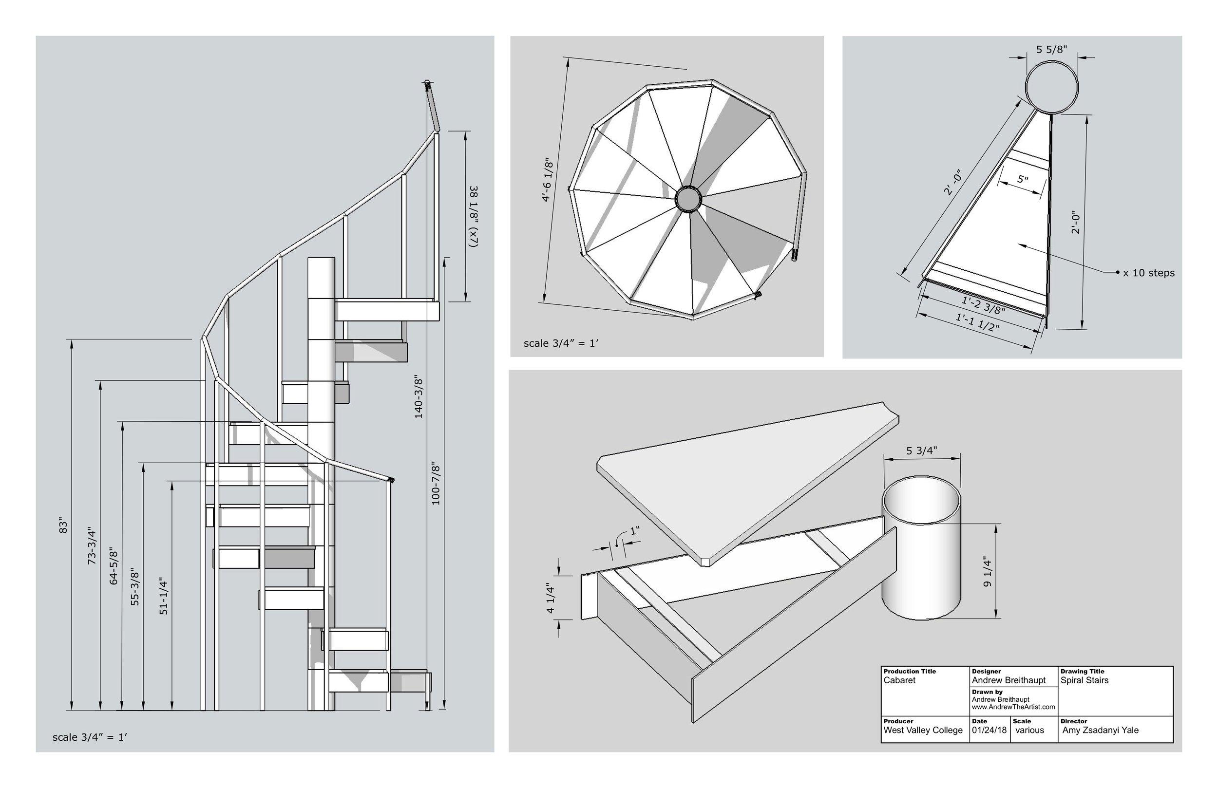 Spiral steps plan