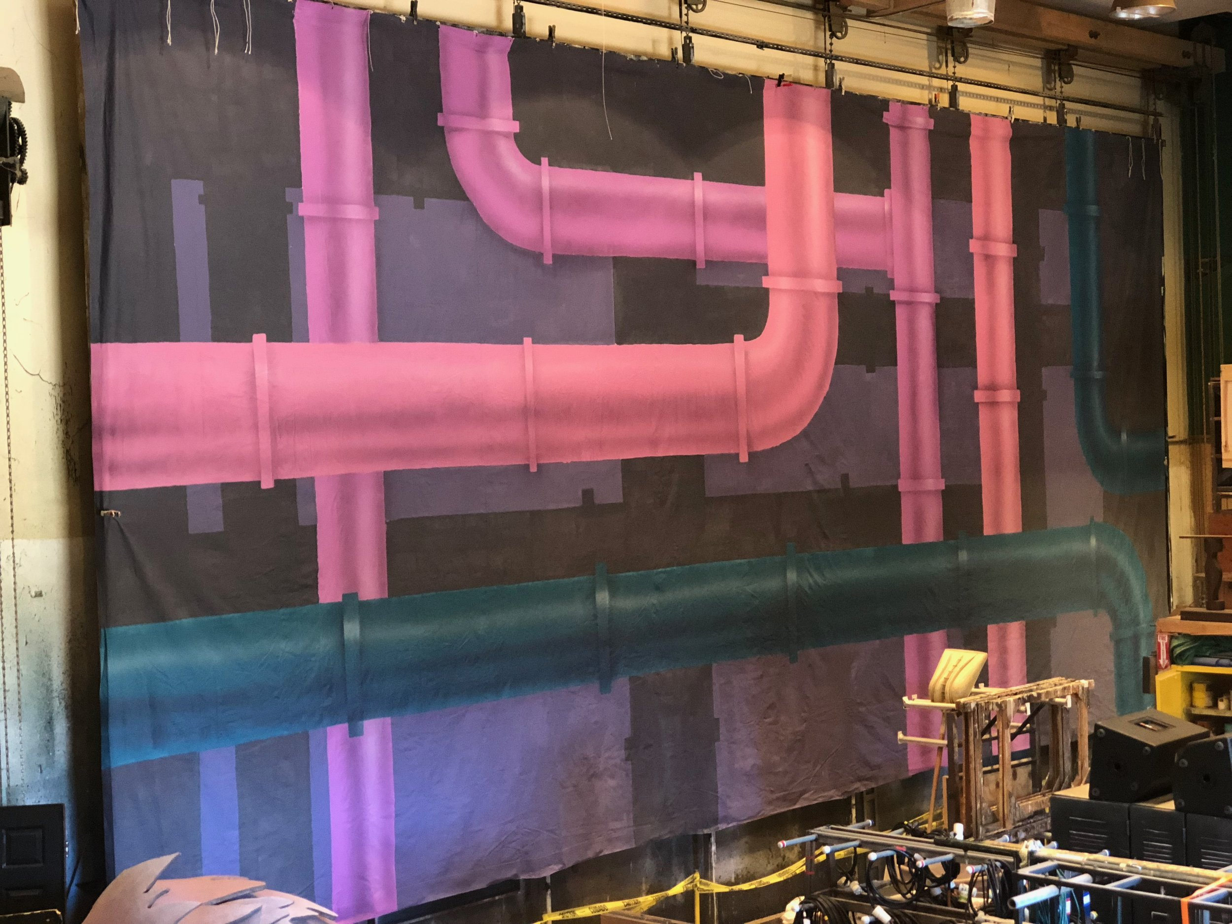 18x40' pipe backdrop